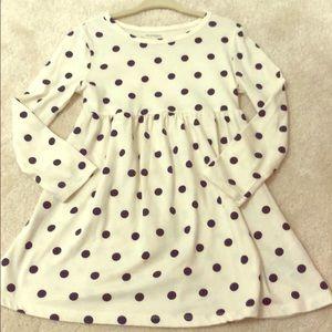 Girls soft cotton old navy polka dot dress